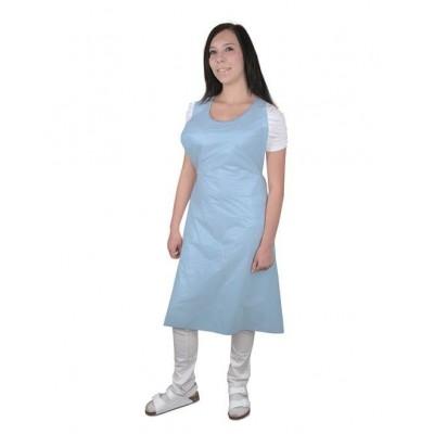 PE zástěra LAURA modrá vel. uni, 100 ks/balení 75*125