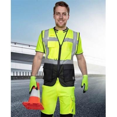 Síťovaná manažerská vesta SIGNAL žlutá