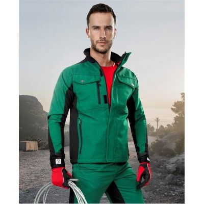 PRE100 soft. bunda zeleno-černá – DOPRODEJ