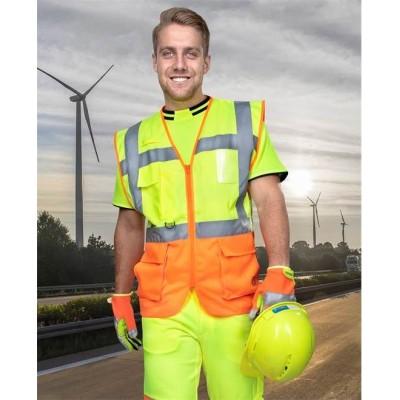 Síťovaná manažerská vesta SIGNAL žluto-oranžová