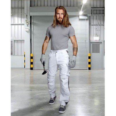 Kalhoty do pasu URBAN+ bílé prodloužené (46)