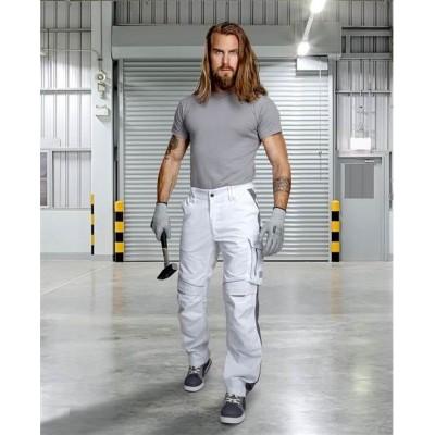 Kalhoty do pasu URBAN+ bílé zkrácené (46)