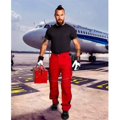 Kalhoty do pasu URBAN jasně červené prodloužené (46)
