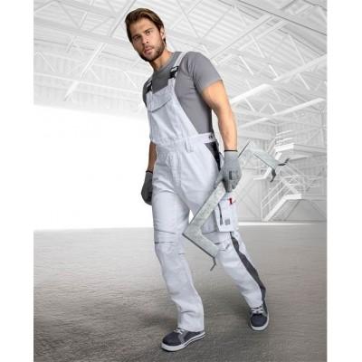 Kalhoty s laclem URBAN+ bílé zkrácené (48-50)